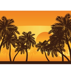 Palm Tree at Sunset2 vector image vector image