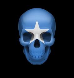 Somalian flag skull vector