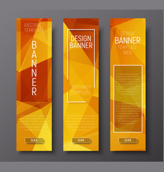 web banners with abstract polygonal background vector image