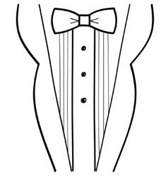 Abstract hand-drawn sketchy black tuxedo vector image
