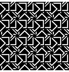 Abstract seamless pattern black white mosaic vector image