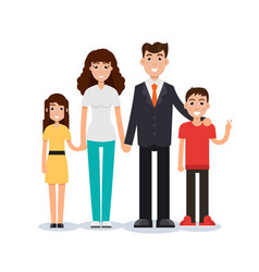happy family father mother son and daughter vector image vector image