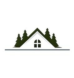 House mountain realty resort logo vector