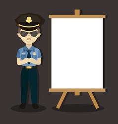 policeman in american cop uniform vector image vector image
