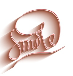 Smile lettering vector image