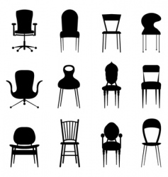 chairs vector image vector image