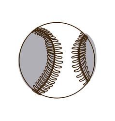 monochrome silhouette baseball ball element sport vector image
