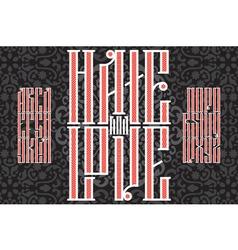 Slavic red font 01 vector
