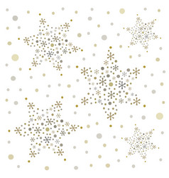 snowflakes seamless christmas background vector image