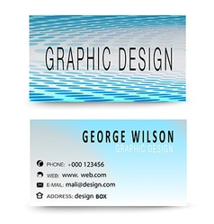 Blue Modern Business card vector image vector image