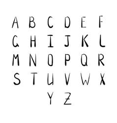 Hand-drawn alphaber script vector image