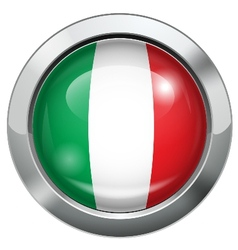 Italy flag metal button vector image