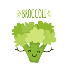 a cartoon broccoli vector image
