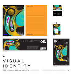 Abstract background visual identity brand template vector