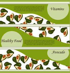 abstract label of avocado fruit vector image vector image