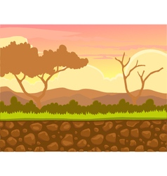 Afternoon view with landscape background vector