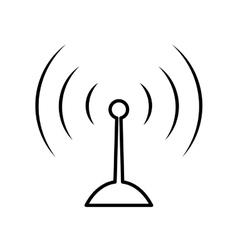 Antenna icon signal design graphic vector