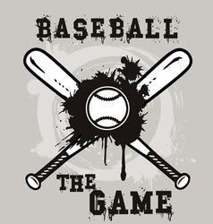 baseball the game vector image vector image