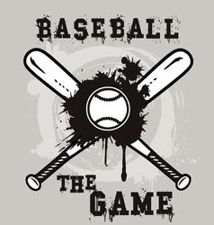 baseball the game vector image