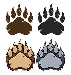bear paw logo design collection - 3 vector image