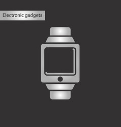 black and white style icon digital watch vector image