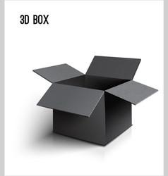 black open box icon on white background vector image