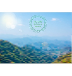 blurred of Nature background landscape vector image