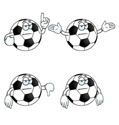 Bored cartoon football set vector image