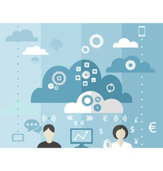 business cloud vector image