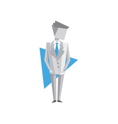 Businessman standing on a vector