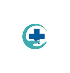 Clinic care logo icon design vector