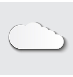 Cloud icon set white color on grey vector
