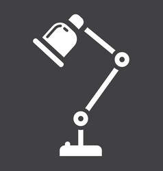 desk lamp solid icon table lamp and appliance vector image