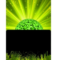 Disco ball poster with burst rays EPS8 vector