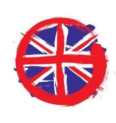 England circle flag vector image