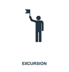 Excursion icon mobile app printing web site vector