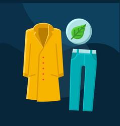 Fall fashion flat concept icon vector