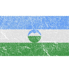 Flag of Kabardino-Balkaria with old texture vector