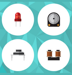 Flat icon electronics set of destination hdd vector
