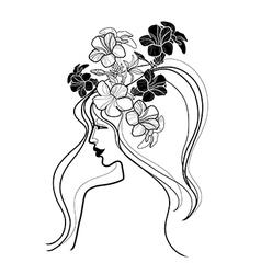 flower girl vector image