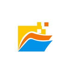 Folder technology logo vector