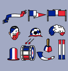 france soccer supporter gear set vector image