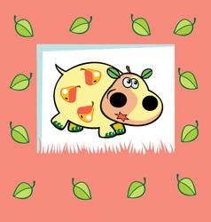 fruity hippo vector image