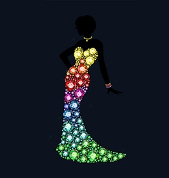 gem dress vector image