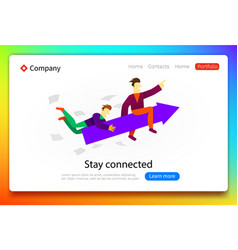 grow your business teamwork and success concept vector image