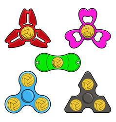 hand spinner toys with water polo ball flat vector image