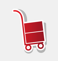 hand truck sign new year reddish icon vector image