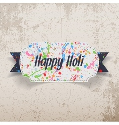 Happy Holi greeting Card with color Splashes vector