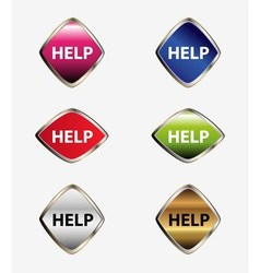 Help icon button vector