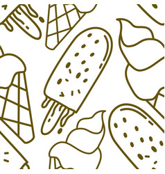 ice cream pattern seamless template vector image